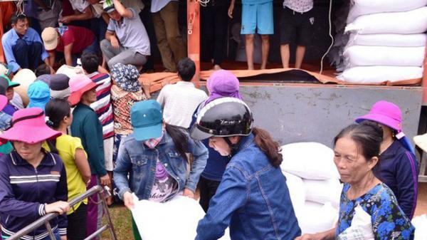 Cấp phát gạo cho các hộ nghèo ở Bắc Kạn và số tỉnh miền núi đón Tết
