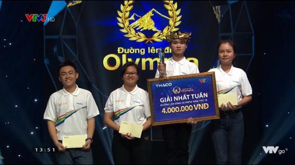 Nam sinh Bắc Kạn xuất sắc giành vòng nguyệt quế cuộc thi tuần Olympia