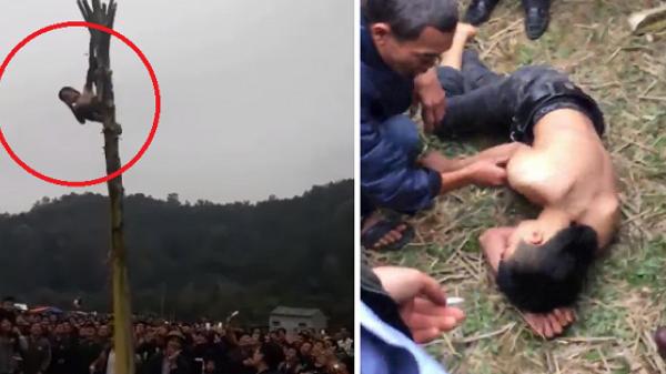 Nam thanh niên rơi từ ngọn chuối xuống đất bất tỉnh trong lễ hội xuân tại Bắc Kạn: Lãnh đạo xã nói gì?
