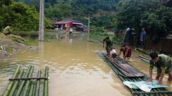 Bắc Kạn: Đường vào thôn Kim Vân xã Kim Hỷ ngập sâu trong nước