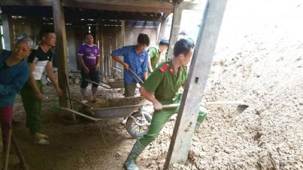 Pác Nặm tập trung khắc phục hậu quả mưa lũ
