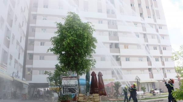 An Giang: Diễn tập Phòng cháy chữa cháy Chung cư Bắc Hà Hoàng Hổ