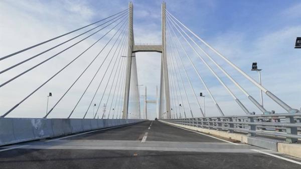 Đồng Tháp: Ngắm cầu Cao Lãnh bắc qua sông Tiền trước ngày khánh thành