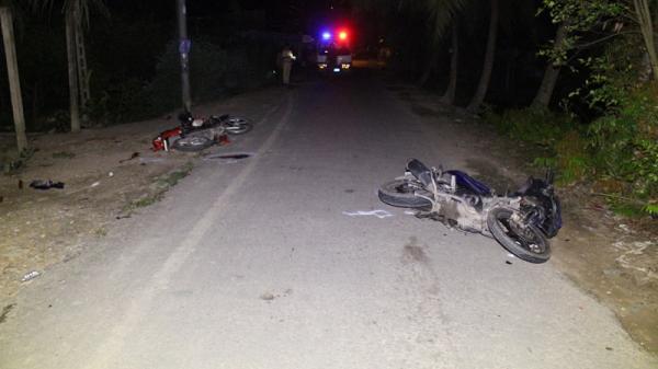 Vĩnh Long: Hai xe máy đối đầu, 1 người t.ử vong tại chỗ