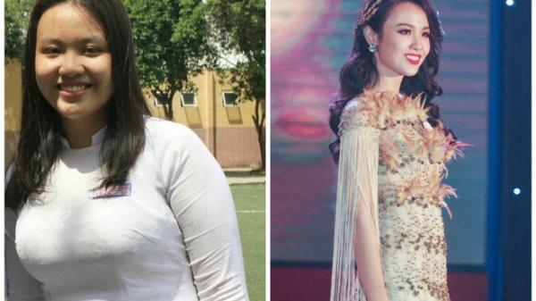 Tạm biệt 32kg mỡ thừa, cô nàng miền Tây từng nặng 90kg đoạt ngay danh hiệu Hoa khôi ĐH Ngoại Thương 2018