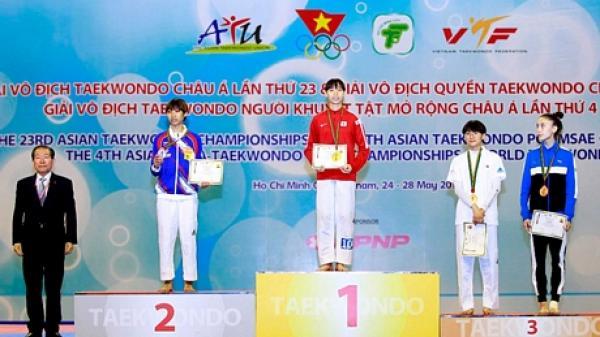 Cô gái Vĩnh Long giành HCV Giải vô địch Taekwondo Châu Á 2018