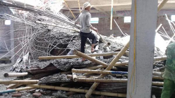 Thông tin mới nhất vụ sập giàn giáo công trình xây dựng siêu thị ở Nam Định làm 2 người th.ương v.ong