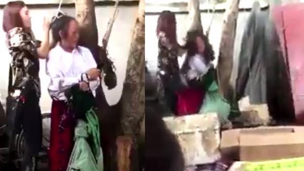 Trộm quần áo, người phụ nữ đang có thai bị trói và đánh dã man