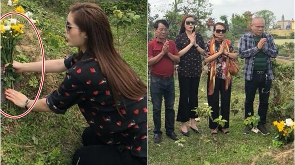Kỳ Duyên đứng cúng bái ăn mặc không có điểm chê nhưng vẫn lộ thiếu sót khi về quê nhà Nam Định