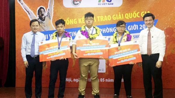 Nam sinh quê Nam Định đạt giải nhất, đại diện Việt Nam tham dự cuộc thi quốc tế tại Mỹ