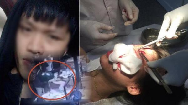 NÓNG: Clip gã trai Nam Định ném ly và đánh 2 cô gái dã man ở quán nướng