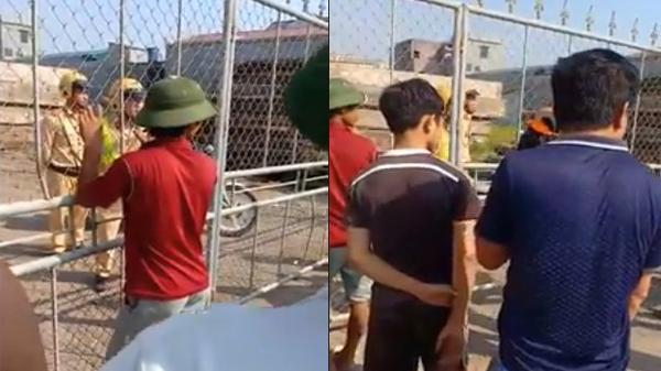 Nóng: Xôn xao clip CSGT Nam Định bị người dân 'nhốt' trong xưởng gỗ