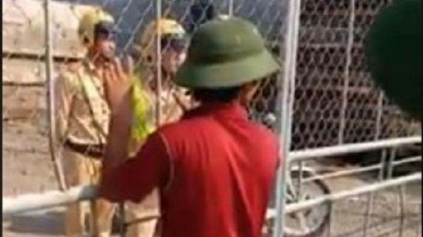 Sự thật bất ngờ về đoạn clip CSGT bị người dân 'nhốt' trong xưởng gỗ ở Nam Định