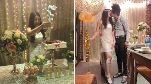 Chàng trai tặng bạn gái bánh gato chứa đầy tiền nhân 2 năm yêu nhau gây xôn xao cộng đồng mạng