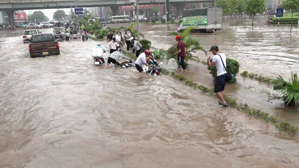 Nóng: Mưa to, tỉnh Thái Bình nguy cơ ngập lụt
