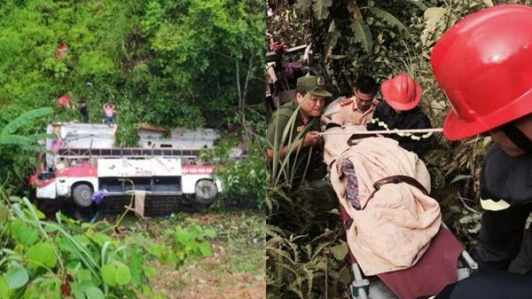 Xe khách giường nằm lao xuống vực: 2 người tử vong, 6 người bị thương quê ở Thái Bình