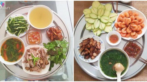 """Mẹ đảm quê Nam Định khoe những mâm cơm ngon rẻ đến bất ngờ, và bí quyết """"giữ chồng"""" là đây"""