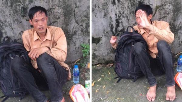 Bắt gặp lại thanh niên quê Nam Định ''ngất vì đói' 10 năm đi xin tiền lộ phí vẫn chưa về đến quê