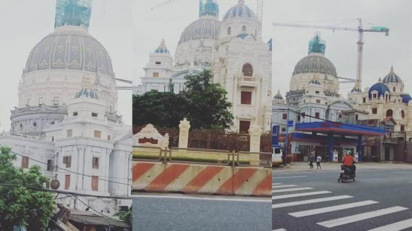 BỎNG MẮT với tòa lâu đài CHA CON đẹp nguy nga của đại gia ngay trên đường quốc lộ khiến dân mạng thích thú