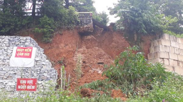 Thái Nguyên: Sạt lở taluy tại Tháp Anten tiềm ẩn nguy cơ mất an toàn cho người dân