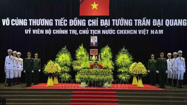 Những hình ảnh đầu tiên tại Lễ viếng Chủ tịch nước Trần Đại Quang