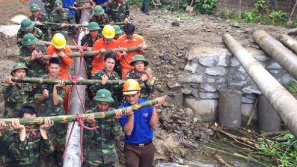 Rộn ràng không khí làm cầu dân sinh của Đoàn viên, thanh niên Bộ CHQS tỉnh Bắc Kạn