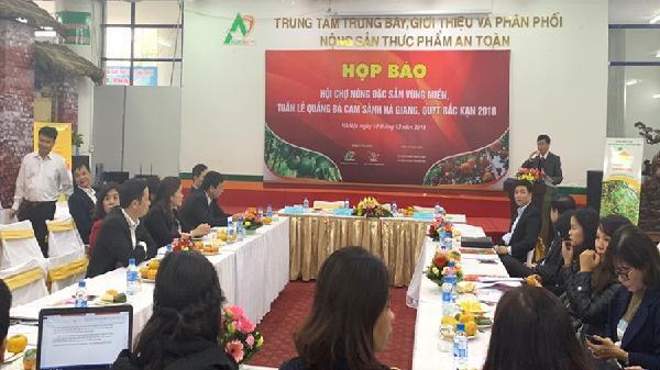 Hội chợ nông sản cam sành Hà Giang, quýt Bắc Kạn