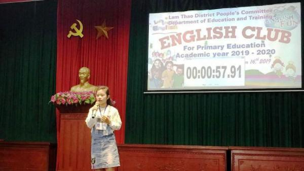 Phú Thọ: Sôi nổi giao lưu các Câu lạc bộ tiếng Anh HS Tiểu học huyện Lâm Thao