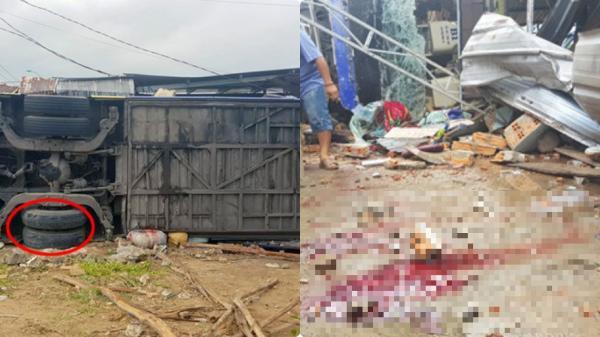 Hiện trường xe khách BKS Thái Bình t.ông s.ập nhà dân, 38 người bị th.ương