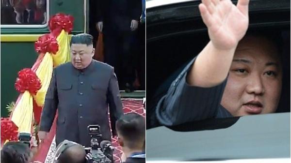 Cận cảnh Chủ tịch Kim Jong-un vui vẻ vẫy chào người dân Việt Nam