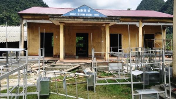 Trường Tiểu học - THCS Kim Hỷ khắc phục khó khăn do thiên tai gây ra
