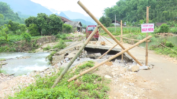 Đập tràn tại huyện Ba Bể bị hư hỏng nặng do mưa lũ