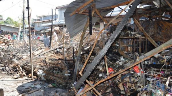 Cháy lớn chợ ở miền Tây, gây thiệt hại hàng tỷ đồng