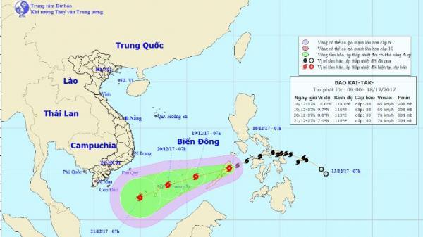 Bạc Liêu: Chủ động ứng phó với diễn biến bão Kai-tak