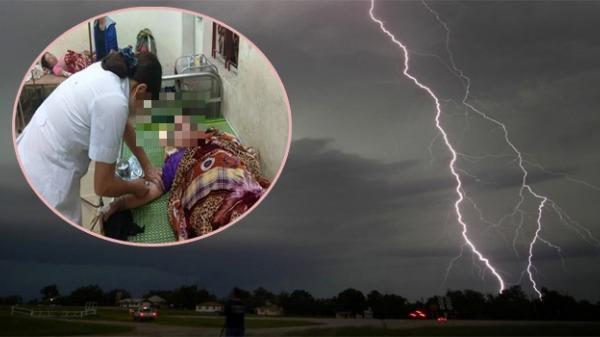 Đang ngồi trong nhà, 4 người bị sét đánh bất tỉnh