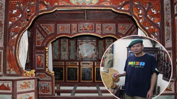 """Choáng ngợp với chiếc """"long sàng"""" giá bạc tỷ của người đàn ông quê Nam Định gần 30 năm rong ruổi khắp các miền quê 'săn' cổ vật"""