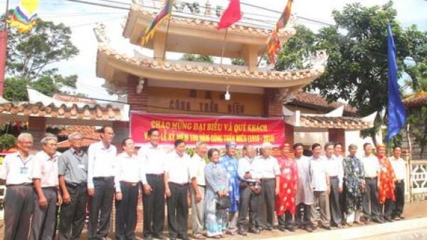 Vĩnh Long: Kỷ niệm 100 năm ngày Công Thần miếu được tái lập