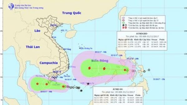 Tin mới về áp thấp nhiệt đới gần bờ và áp thấp nhiệt đới gần Biển Đông