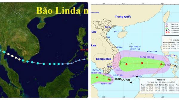 Sự giống nhau tới kỳ lạ của bão số 12 và Linda 20 năm trước