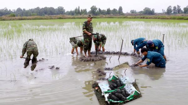 Hồng Dân (Bạc Liêu): Bộ Chỉ huy Quân sự tỉnh thu gom được nhiều trái cối trên địa bàn