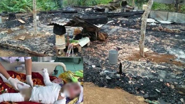 Cháy nhà lúc bố mẹ đi làm, 2 anh em thương vong
