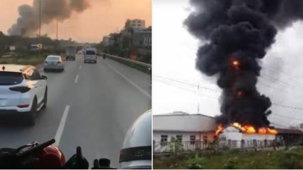Bắc Ninh: Cháy lớn ở khu công nghiệp, xe cứu hoả hú còi liên tục vẫn không được nhường đường
