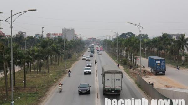 Từ ngày 30/5, phân luồng giao thông trên các đường gom KCN Quế Võ (Bắc Ninh)