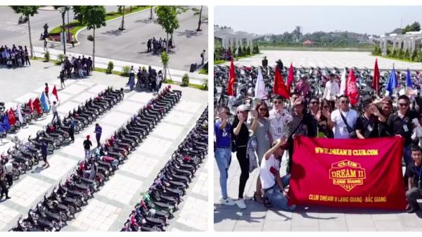 CLIP: Hàng trăm xe Dream II 'chất phát ngất' hội ngộ trong sinh nhật tại Bắc Ninh