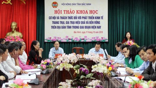 """Bắc Ninh: Hội thảo khoa học """"Cơ hội và thách thức đối với phát triển kinh tế trang trại, gia trại"""""""