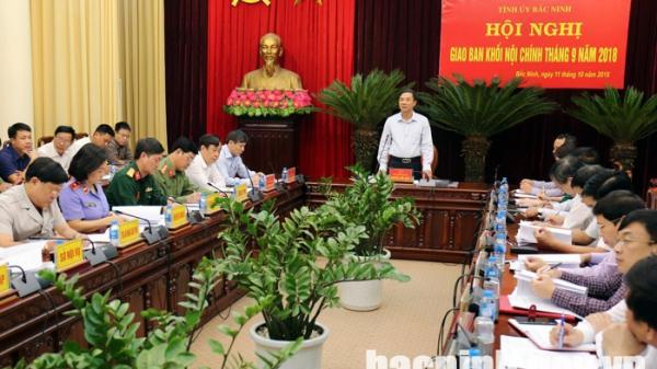 Hội nghị giao ban Khối Nội chính 9 tháng năm 2018