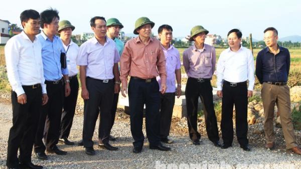 Lãnh đạo tỉnh kiểm tra công tác quản lý chất lượng các công trình xây dựng tại huyện Quế Võ