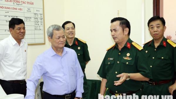 Bắc Ninh: Chủ tịch UBND tỉnh thăm và làm việc với Hội Cựu chiến binh tỉnh