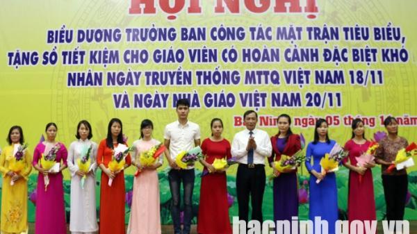Bắc Ninh: Biểu dương 40 Trưởng ban công tác Mặt trận tiêu biểu