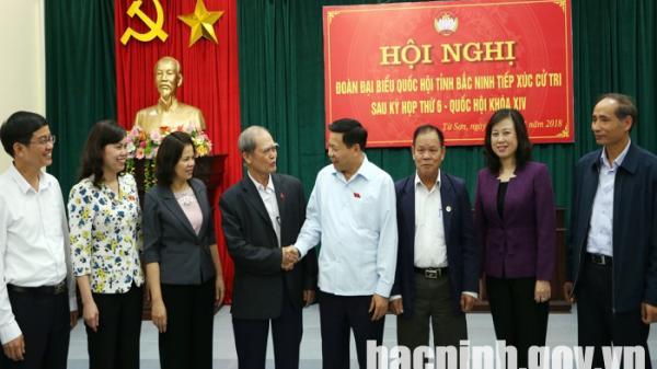 Đoàn đại biểu Quốc hội tỉnh tiếp xúc cử tri thị xã Từ Sơn